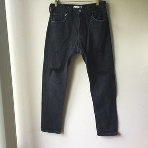 RE/DONE x Levi's Black Distressed Jeans